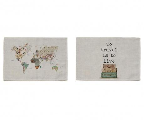 Set 2 podmetača World 30x45 cm