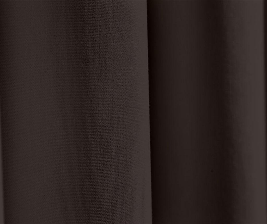 Zastor Plane Dark Brown 140x270 cm