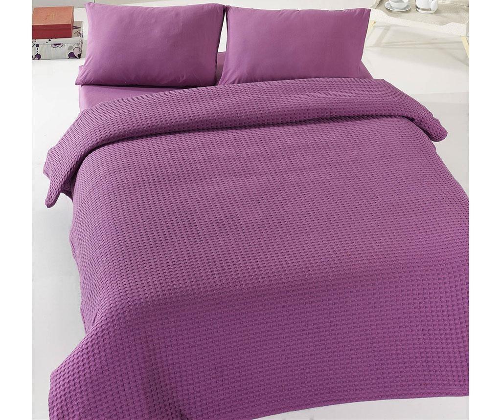 Přehoz Pique Henry Purple 200x235 cm