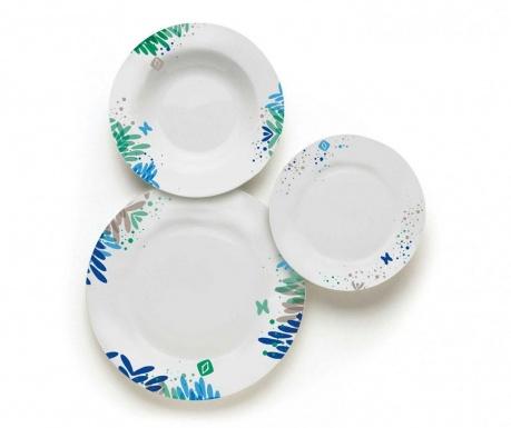 Сервиз за хранене 18 части Garden Blue