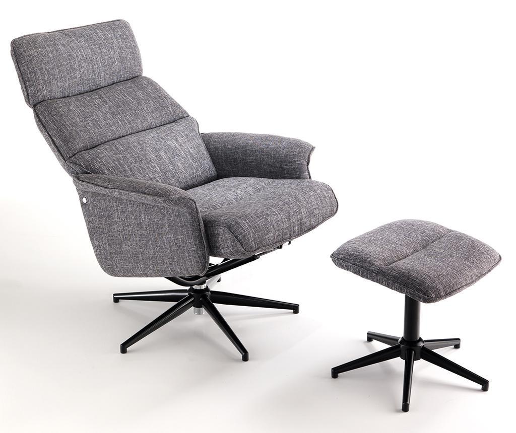 Clara Soft Grey Irodai szék és lábzsámoly
