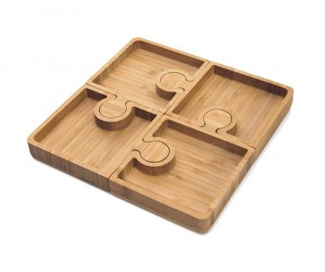Комплект 4 плата за аперитиви Karo Puzzle
