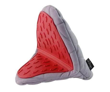 Oven glove Livio Grey Red