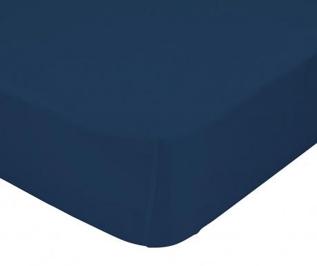 Cearsaf de pat cu elastic Basic Navy 90x200 cm