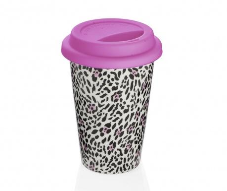 Leopard Pink Utazóbögre 300 ml