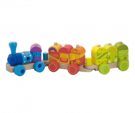 Set de construit 22 piese Choo Choo Train