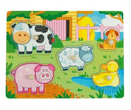 Joc tip puzzle 5 piese Farm Mode