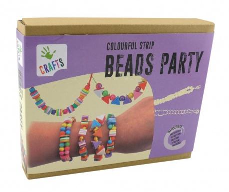 Zestaw do kreowania biżuterii 150 elementów Strip Beads Party