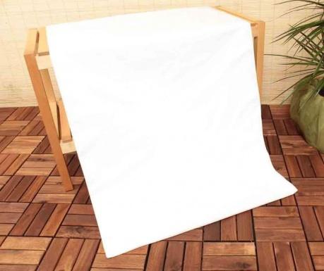 Долен чаршаф с ластик Uspa Mix White 160x200 см