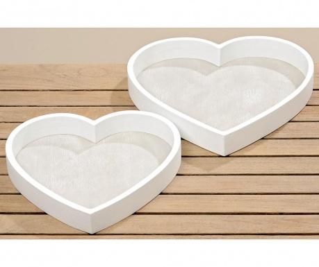 Комплект 2 подноса за сервиране Lainey Heart