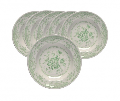 Сервиз 6 дълбоки чинии Roccoco Green