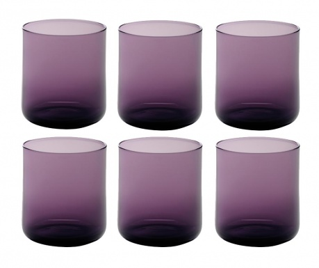 Set 6 čaša za vodu Bloom Violet 250 ml