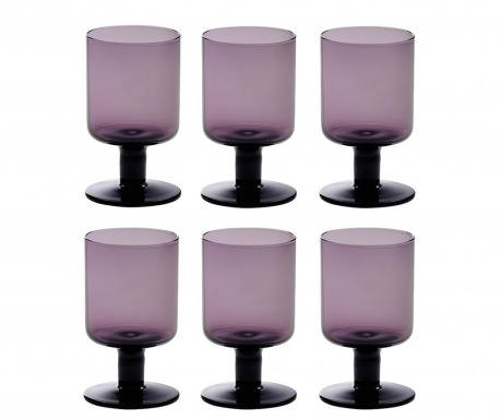 Set 6 čaša za vino Bloom Violet 200 ml