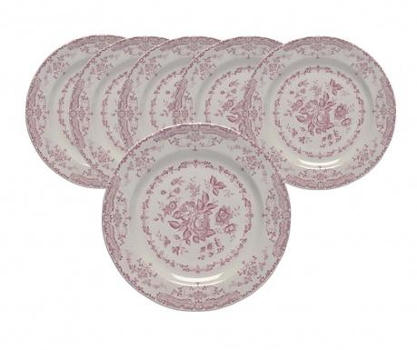 Сервиз 6  плитки чинии Roccoco Pink