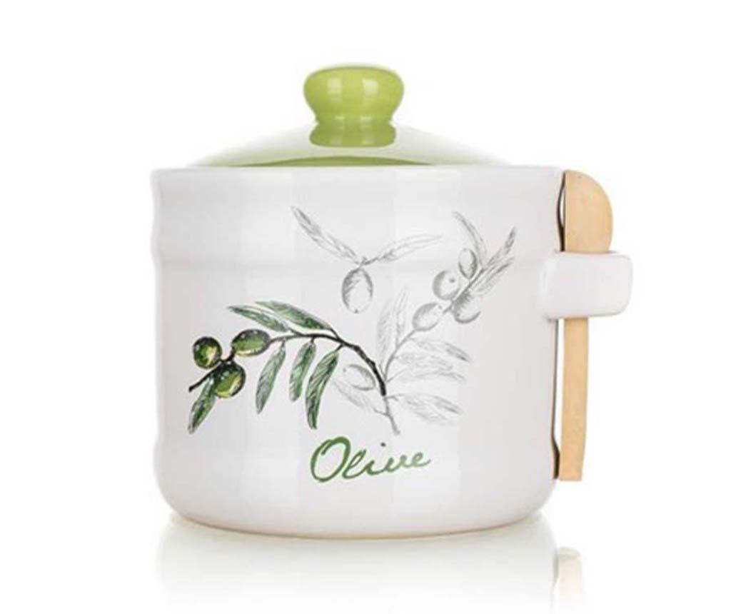 Recipient cu capac si lingurita Olives 400 ml