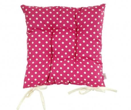 Polštář na sezení Polka Dots Pink 37x37 cm