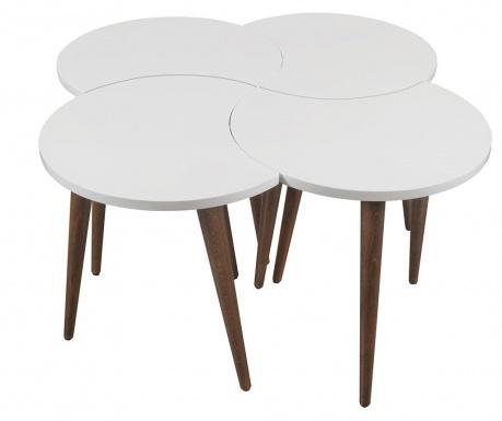 Set 4 masute Oval White