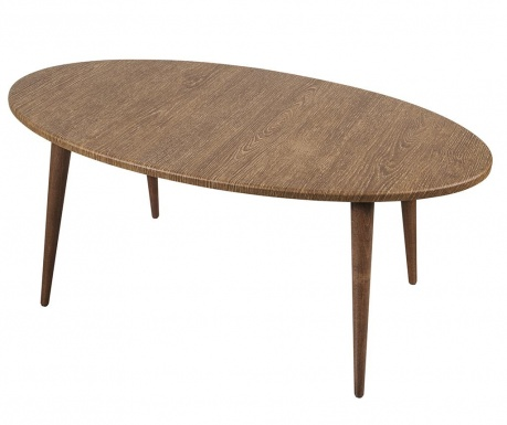 Oval Perfect Brown Kávézóasztal