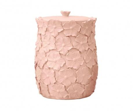 Koš za smeti s pokrovom Floralis Pink