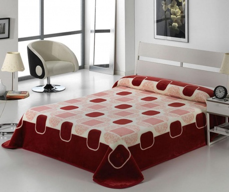 Κουβέρτα Tokyo Shapes Bordeaux 220x240 cm