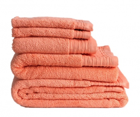Σετ 2 πετσέτες μπάνιου Lisa Salmon 30x50 cm