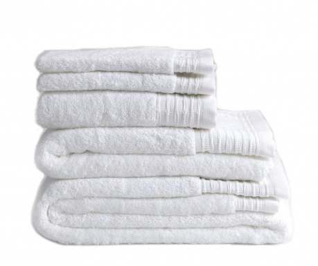 Σετ 2 πετσέτες μπάνιου Lisa White 30x50 cm