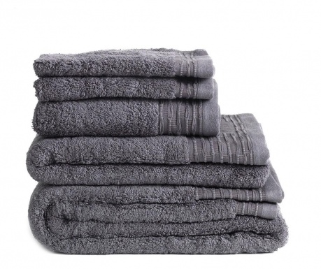 Set 3 prosoape de baie Lisa Dark Grey