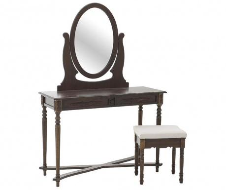 Set masuta dressing si scaunel Boudoir Brown