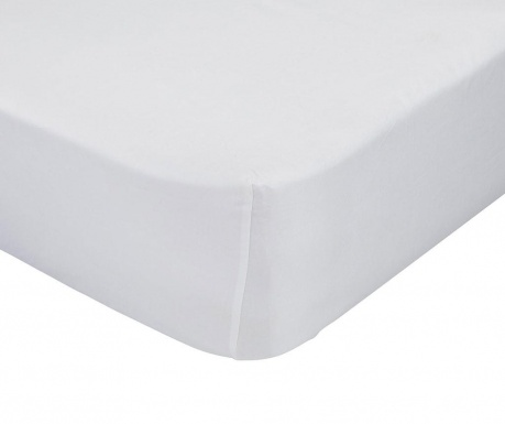 Posteľná plachta s gumičkou Basic White