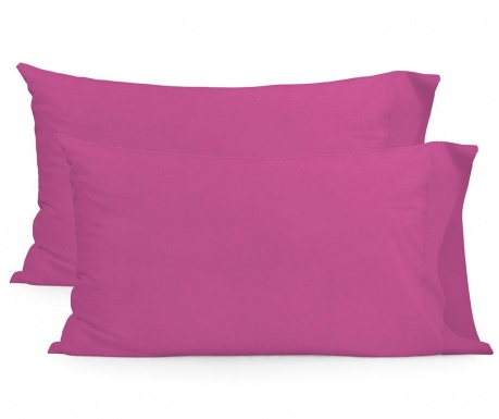 Set 2 jastučnice Basic Rectangular Fuchsia 50x75 cm