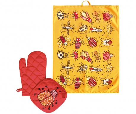 Set 3 piese de bucatarie Bugs Yellow