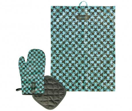 3-dijelni kuhinjski set Mosaic Green