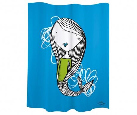 Zavjesa za tuš Mermaid Blue 180x200 cm