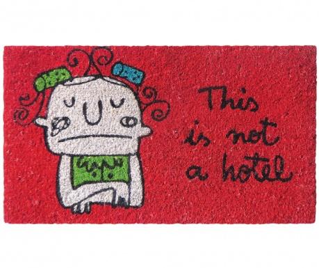 Covoras de intrare Not a Hotel Red 40x70 cm