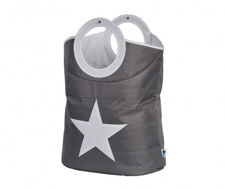 Geanta pentru rufe Star Grey White