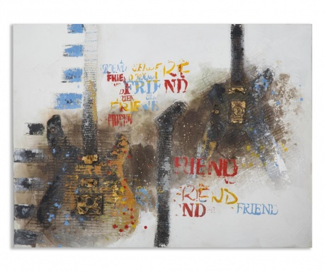 Obraz Guitar Art 90x120 cm