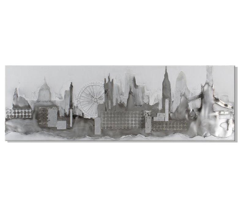 Tablou Grey City 50x150 cm
