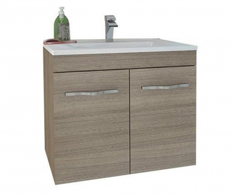 Комплект шкаф и умивалник Corallo Fumo