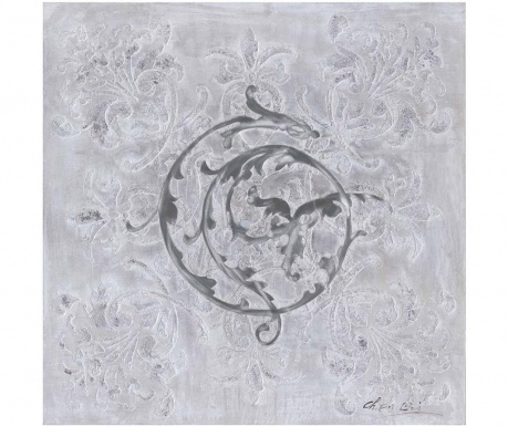 Obraz Edging Grey White 80x80 cm