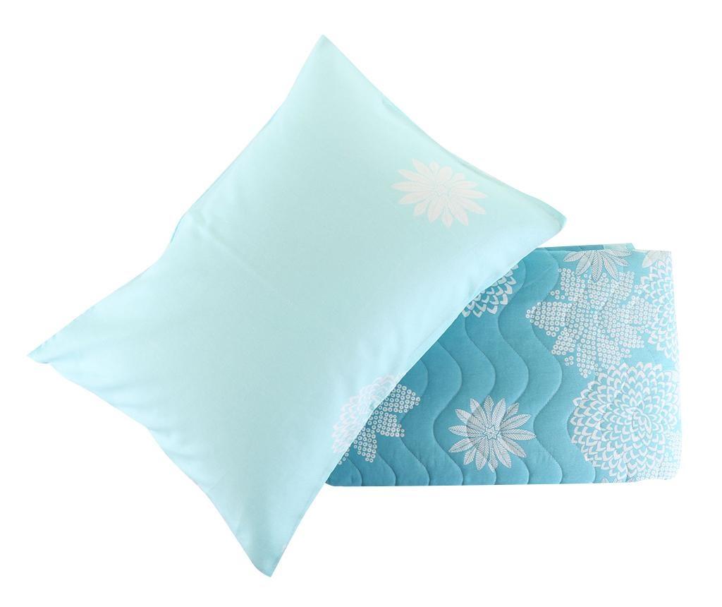 Set cuvertura matlasata Double Simay Turquoise