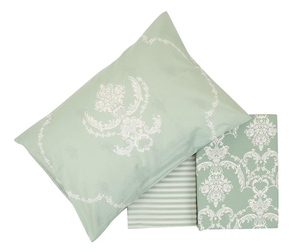 Lenjerie de pat Double Pique Pure Water Green 200x235