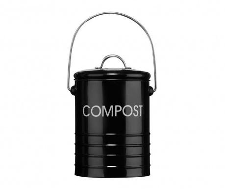 Posuda s poklopcem za kompost Duane Ridges Black 2.5 L