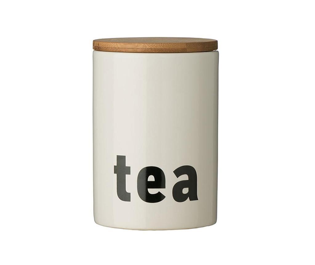 Dóza s víkem na čaj Letters