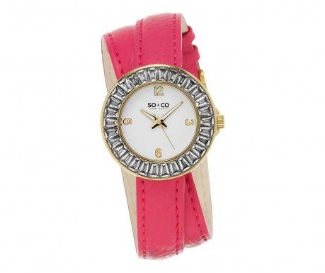 Γυναικείο ρολόι χειρός So&Co SoHo Baguette Pink