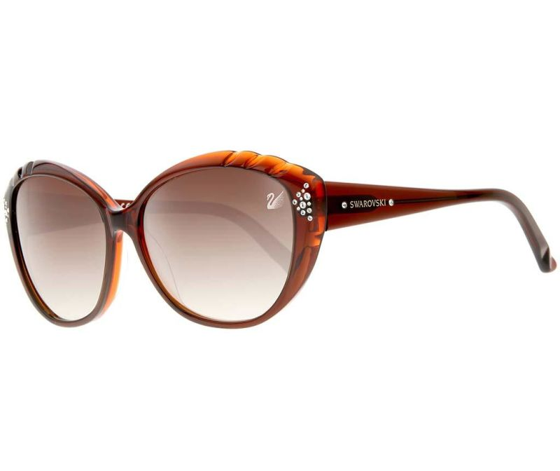 Дамски слънчеви очила Swarovski Oval  Brown