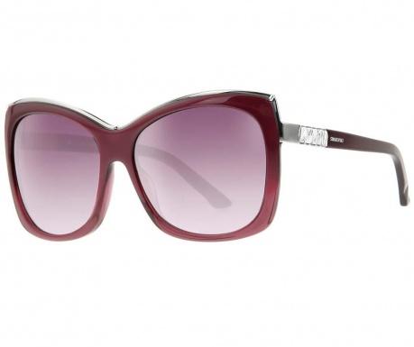 Okulary przeciwsłoneczne damskie Swarovski Big Bordeaux