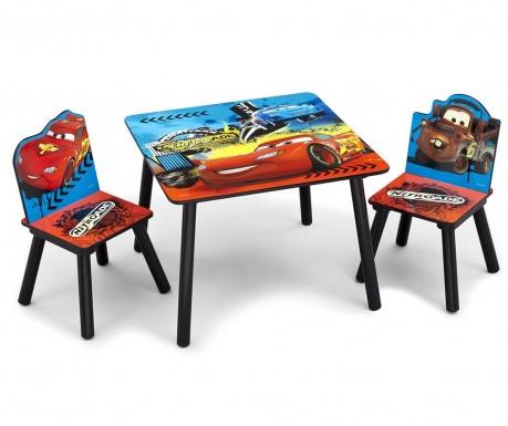 Cars Gyerekasztal és 2 db szék