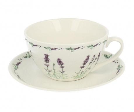 Комплект чаша и чинийка Country Lavander