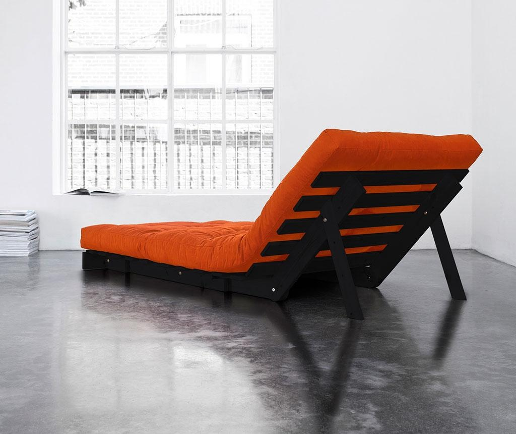 Sofa extensibila Roots Wenge and Orange