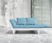 Sofa extensibila Beat White and Light Blue